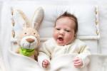 Baby-Bettdecke und Kissen