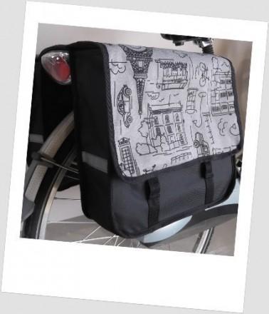 Baby-Joy Fahrradtasche JOY Kinderfahrradtasche Satteltasche Gepäckträgertasche 2 x 5 Liter 01 City Graphit