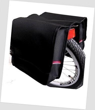 Baby-Joy Fahrradtasche JOY Kinderfahrradtasche Satteltasche Gepäckträgertasche 2 x 5 Liter 09 UNI Black