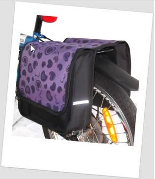 Baby-Joy Fahrradtasche JOY Kinderfahrradtasche Satteltasche Gepäckträgertasche 2 x 5 Liter 21 Geart Purple