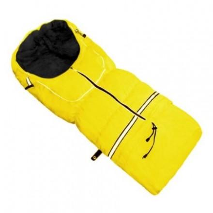 Fußsack NILS FLEECE 110 cm 6 Monate bis 4 Jahre | 40 Farben 28 Schwarz-Gelb