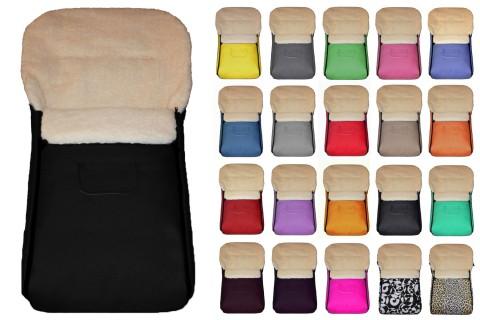 Fußsack Kai UNI Lammwolle/Polyester 105 cm 6 Monate bis 3 Jahre | 40 Farben