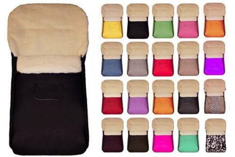 Fußsack Kai Lammwolle/Polyester XXL 120 cm ab 1 bis 5 Jahre | 24 Farben