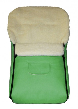 Fußsack Kai Fell XXL 120 cm ab 1 bis 5 Jahre | 24 Farben 11 hellgrün