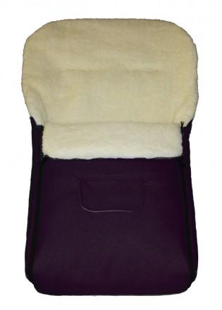 Fußsack Kai Fell XXL 120 cm ab 1 bis 5 Jahre | 24 Farben 14 Violett