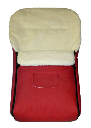 Fußsack Kai Lammwolle/Polyester XXL 120 cm ab 1 bis 5 Jahre | 24 Farben 18 Bordeaux