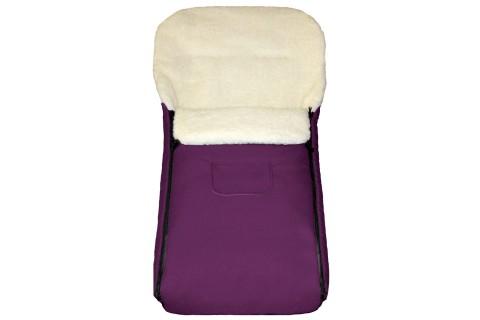 Fußsack Kai UNI Lammwolle/Polyester 105 cm 6 Monate bis 3 Jahre | 40 Farben 13 Pflaume