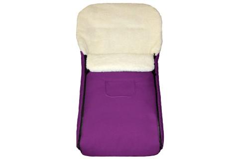 Fußsack Kai Fell UNI 105 cm 6 Monate bis 3 Jahre | 40 Farben 14 Violett