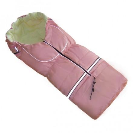 Fußsack NILS FLEECE 110 cm 6 Monate bis 4 Jahre | 40 Farben 07 Rosa