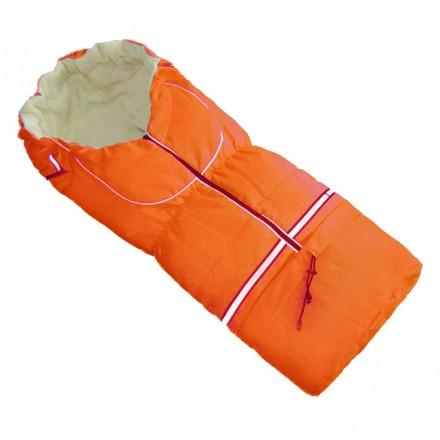 Fußsack NILS FLEECE 110 cm 6 Monate bis 4 Jahre | 40 Farben 09 Orange