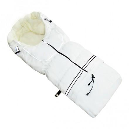 Fußsack NILS FLEECE 110 cm 6 Monate bis 4 Jahre | 40 Farben 13 Weiß