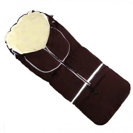 Fußsack NILS FLEECE 110 cm 6 Monate bis 4 Jahre | 40 Farben 16 Braun