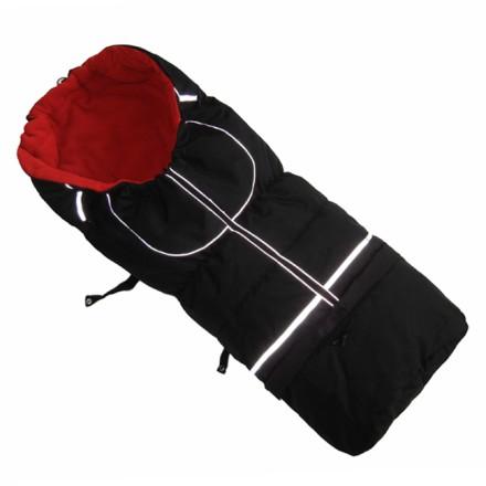 Fußsack NILS FLEECE 110 cm 6 Monate bis 4 Jahre | 40 Farben 19 Schwarz-Rot