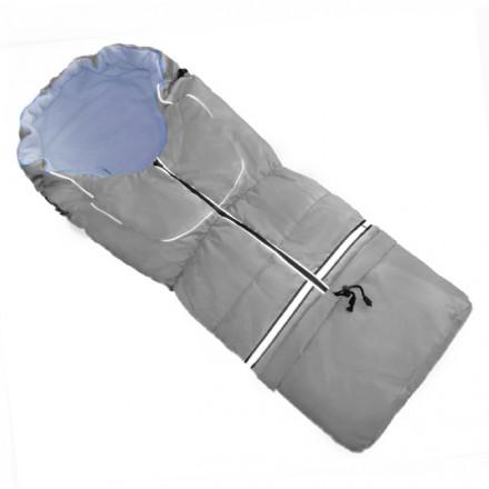 Fußsack NILS FLEECE 110 cm 6 Monate bis 4 Jahre | 40 Farben 21 Grau-Hellblau