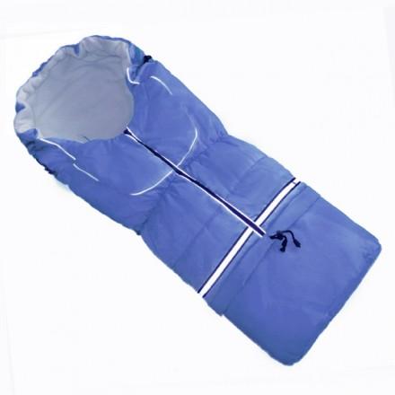 Fußsack NILS FLEECE 110 cm 6 Monate bis 4 Jahre | 40 Farben 22 Blau-Hellblau