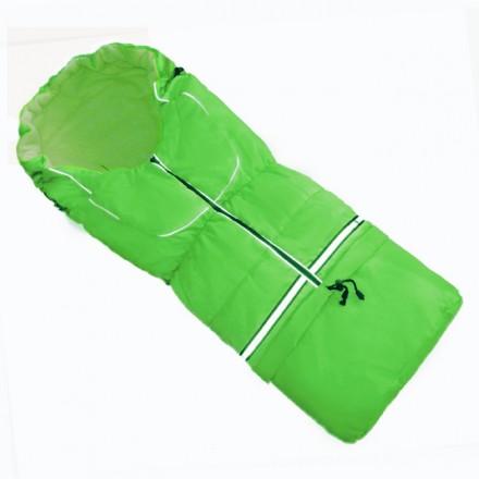 Fußsack NILS FLEECE 110 cm 6 Monate bis 4 Jahre | 40 Farben 23 Grün-Grün