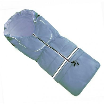 Fußsack NILS FLEECE 110 cm 6 Monate bis 4 Jahre | 40 Farben 24 Hellblau-Hellblau