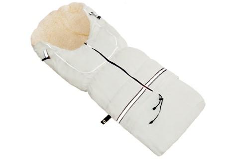 Fußsack NILS Lammwolle/Polyester 110 cm 6 Monate bis 4 Jahre | 40 Farben 01 Creme
