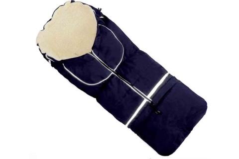 Fußsack NILS Lammwolle/Polyester 110 cm 6 Monate bis 4 Jahre | 40 Farben 03 Dunkelblau