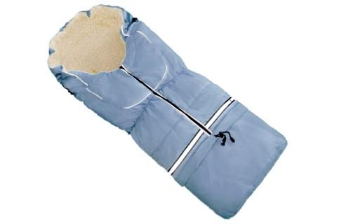 Fußsack NILS Lammwolle/Polyester 110 cm 6 Monate bis 4 Jahre | 40 Farben 05 Hellblau