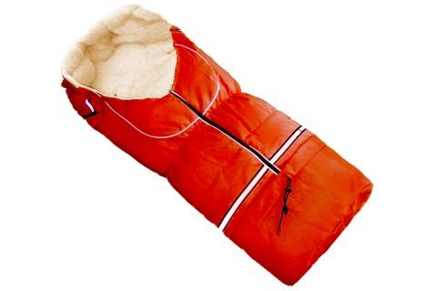Fußsack NILS Lammwolle/Polyester 110 cm 6 Monate bis 4 Jahre | 40 Farben 08 Rot