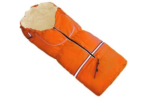 Fußsack NILS FELL 110 cm 6 Monate bis 4 Jahre | 40 Farben 09 Orange