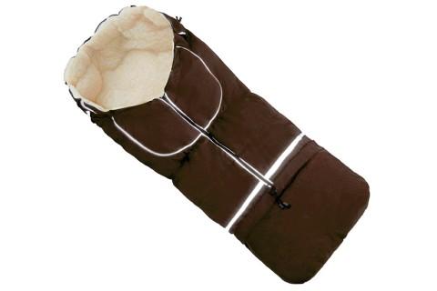 Fußsack NILS FELL 110 cm 6 Monate bis 4 Jahre | 40 Farben 16 Braun