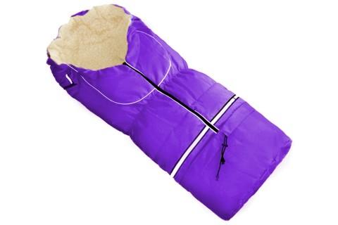 Fußsack NILS Lammwolle/Polyester 110 cm 6 Monate bis 4 Jahre | 40 Farben 20 Lila