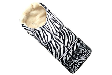 Fußsack NILS FELL 110 cm 6 Monate bis 4 Jahre | 40 Farben 26 Zebra