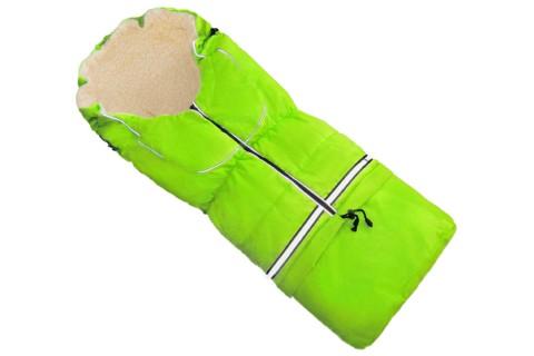 Fußsack NILS FELL 110 cm 6 Monate bis 4 Jahre | 40 Farben 36 Neon-Grün