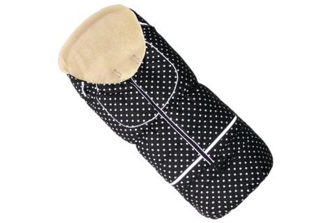 Fußsack NILS FELL 110 cm 6 Monate bis 4 Jahre | 40 Farben 40 Schwarz-Punkte