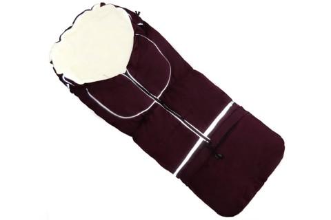 Fußsack NILS FLEECE 110 cm 6 Monate bis 4 Jahre | 40 Farben 02 Bordeaux