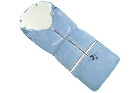Fußsack NILS FLEECE 110 cm 6 Monate bis 4 Jahre | 40 Farben 05 Hellblau