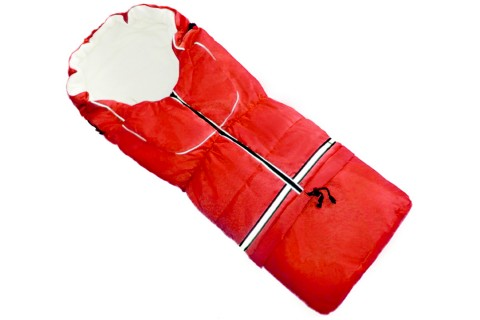 Fußsack NILS FLEECE 110 cm 6 Monate bis 4 Jahre | 40 Farben 08 Rot