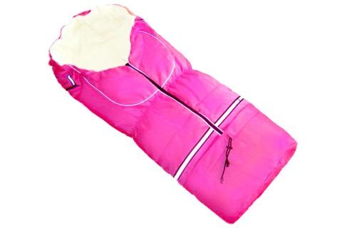 Fußsack NILS FLEECE 110 cm 6 Monate bis 4 Jahre | 40 Farben 17 Pink