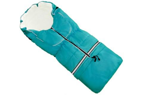 Fußsack NILS FLEECE 110 cm 6 Monate bis 4 Jahre | 40 Farben 25 Türkisblau
