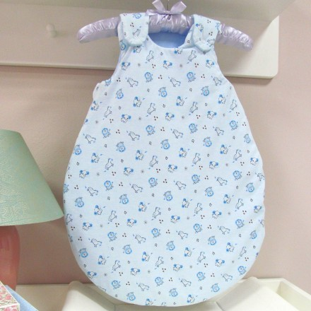 Baby-Joy Schlafsack ANNA Winterschlafsack Jersey WARM gefüttert 62/68 | 02 Blau