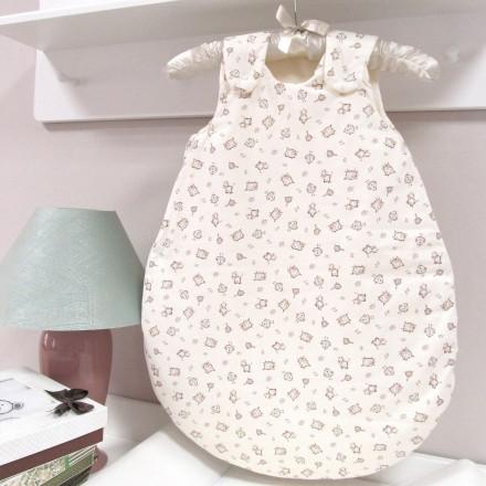Baby-Joy Schlafsack ANNA Winterschlafsack Jersey WARM gefüttert 68/74 | 01 Creme