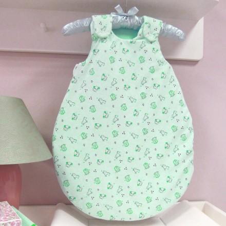 Baby-Joy Schlafsack ANNA Winterschlafsack Jersey WARM gefüttert 62/68 | 04 Grün