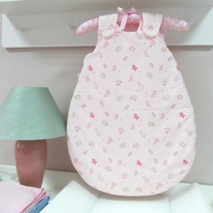 Baby-Joy Schlafsack ANNA Winterschlafsack Jersey WARM gefüttert 68/74 | 03 Rosa