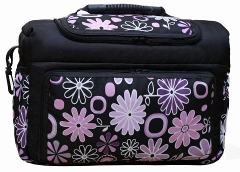 Wickeltasche KIM XXL Reisetasche Windeltasche Babytasche 15 Flieder Blumen