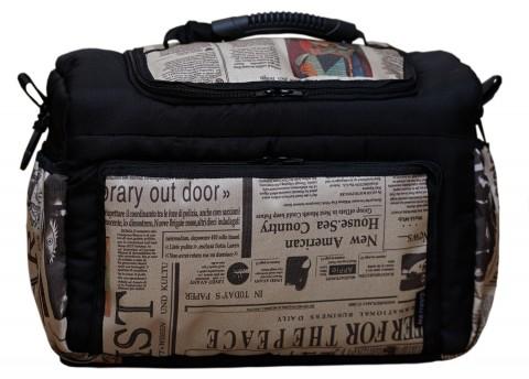 Wickeltasche KIM XXL Reisetasche Windeltasche Babytasche 35 Schwarz Zeitung