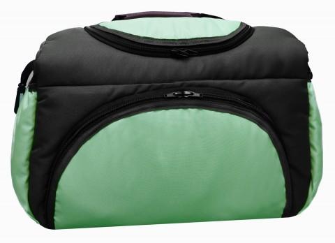 Wickeltasche PIA XXL Reisetasche Windeltasche Babytasche 10 Graphit-Hellgrün