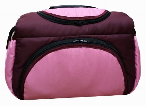 Wickeltasche PIA XXL Reisetasche Windeltasche Babytasche 11 Bordeaux-Rosa