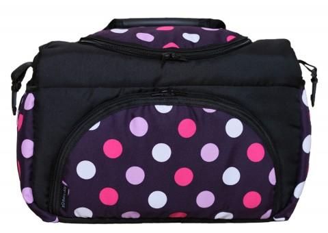 Wickeltasche PIA XXL Reisetasche Windeltasche Babytasche 22 Schwarz Lila Pink Kugel
