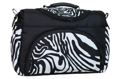 Wickeltasche PIA XXL Reisetasche Windeltasche Babytasche 27 Schwarz-Weiß Zebra