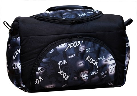 Wickeltasche PIA XXL Reisetasche Windeltasche Babytasche 34 Schwarz-Weiß Rock