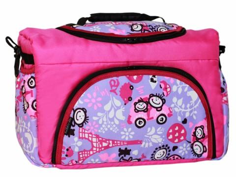 Wickeltasche PIA XXL Reisetasche Windeltasche Babytasche 49 Pink Flieder Comic